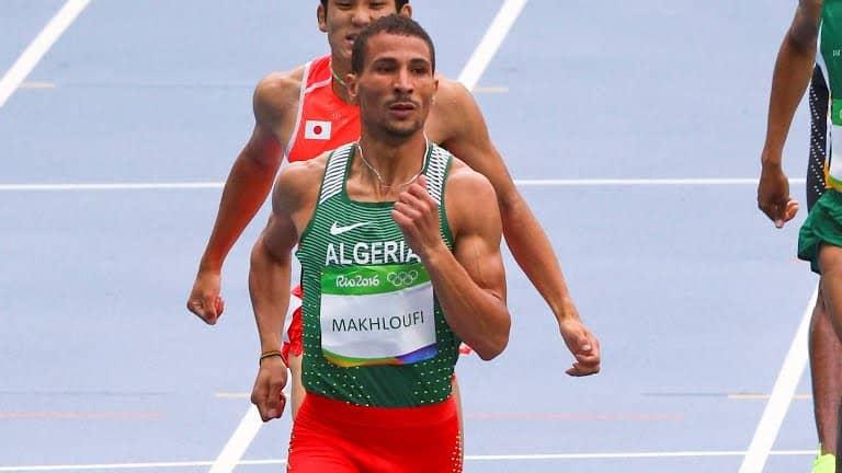 Taoufik Makhloufi pour la consécration lors des 17e championnats du monde d'athlétisme