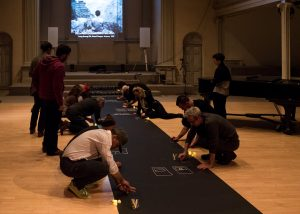 Memory Palace scroll, Photo by Ian Douglas, courtesy of Danspace Project