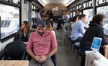 San Francisco เปิดตัว Leap รถเมล์หรูที่ดูเหมือนร้านกาแฟวิ่งได้