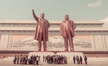 """เกาหลีเหนือ สีกุหลาบ ภาพโทนหวานหลัง """"เส้นขนานที่ 38"""""""