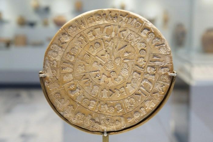 musée archéologique d'Héraklion disque de Phaistos