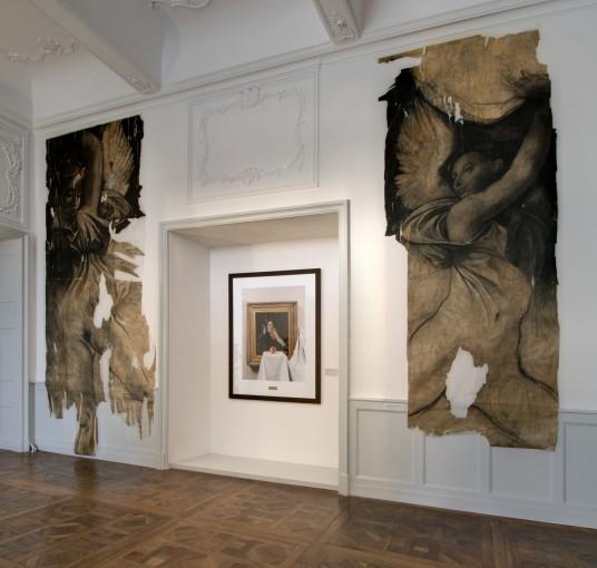 Diptyque à la pierre noire, Ernest Pignon-Ernest