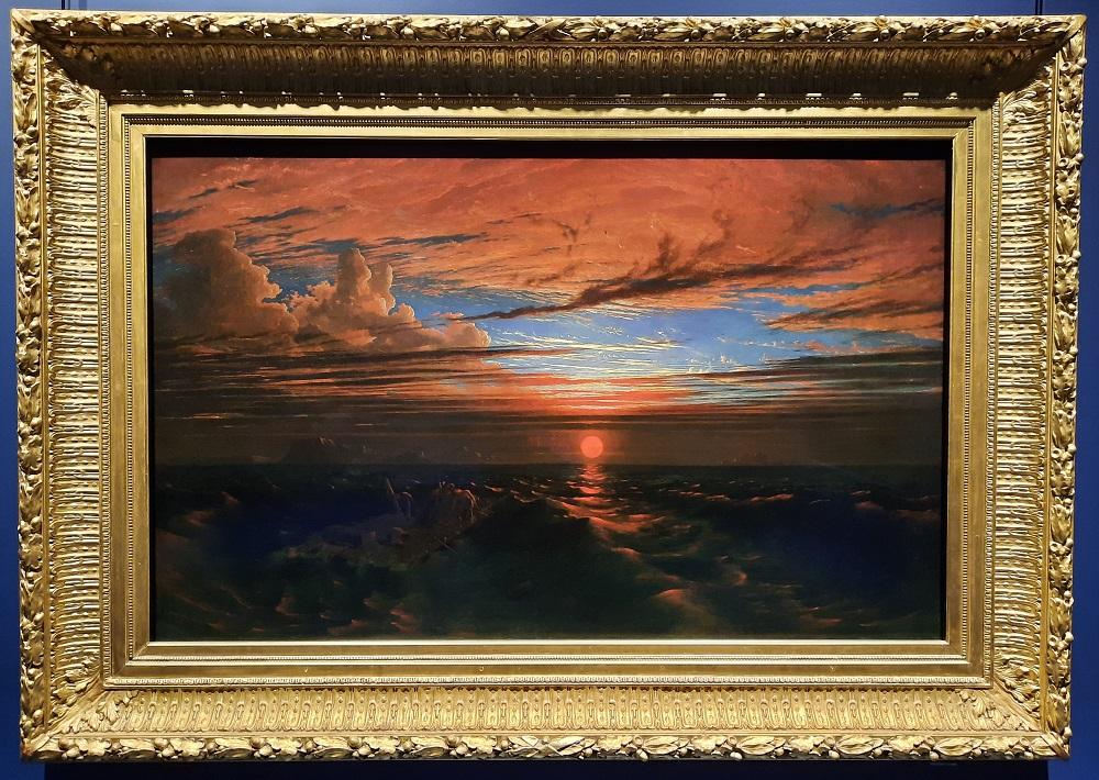 coucher de soleil sur la mer francis danby