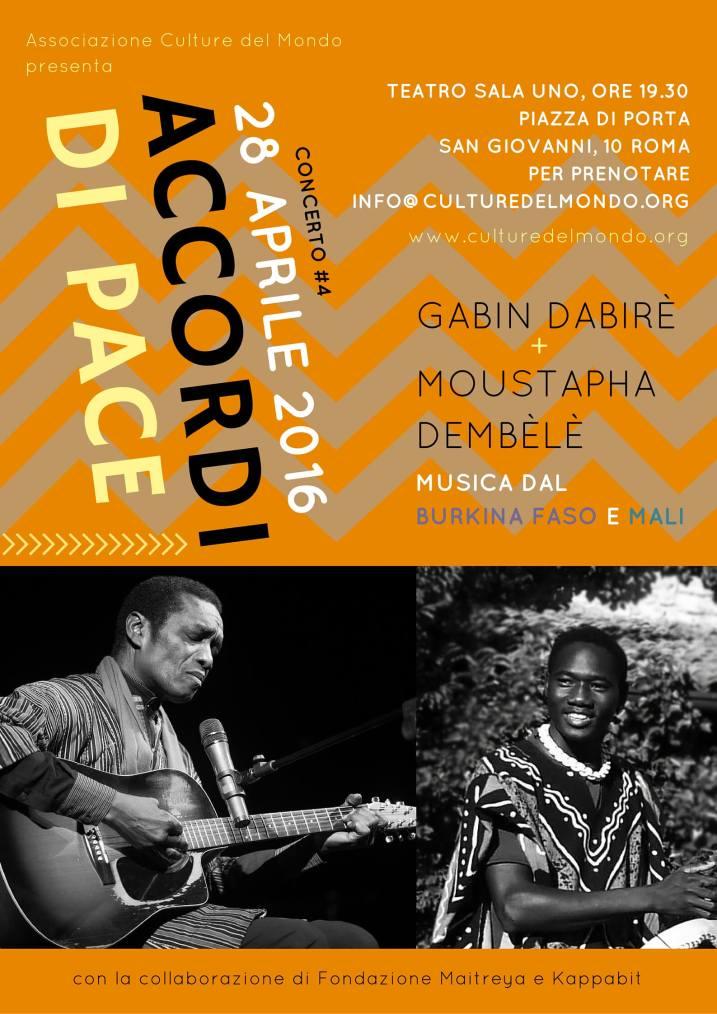 Accordi di Pace - Immaginiamo la pace - Gabin Dabirè e Zam Dembèlè