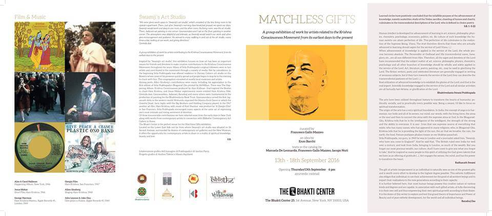 matchless gifts - New York Bhakti Centre