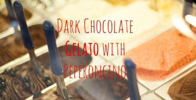 Dark Chocolate Gelato with Peperoncino and Cinnamon