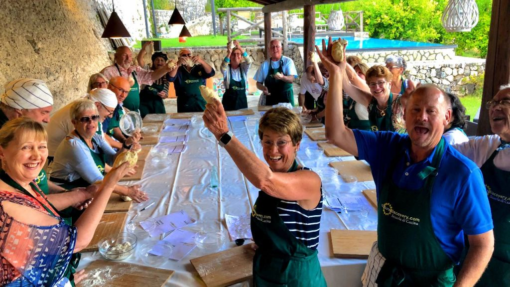 Our Amalfi Coast Vacations have 100% hands on cooking classes