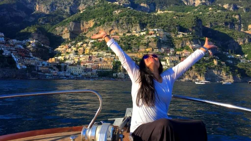 Our Amalfi Coast Vacation features a private boat trip to Positano