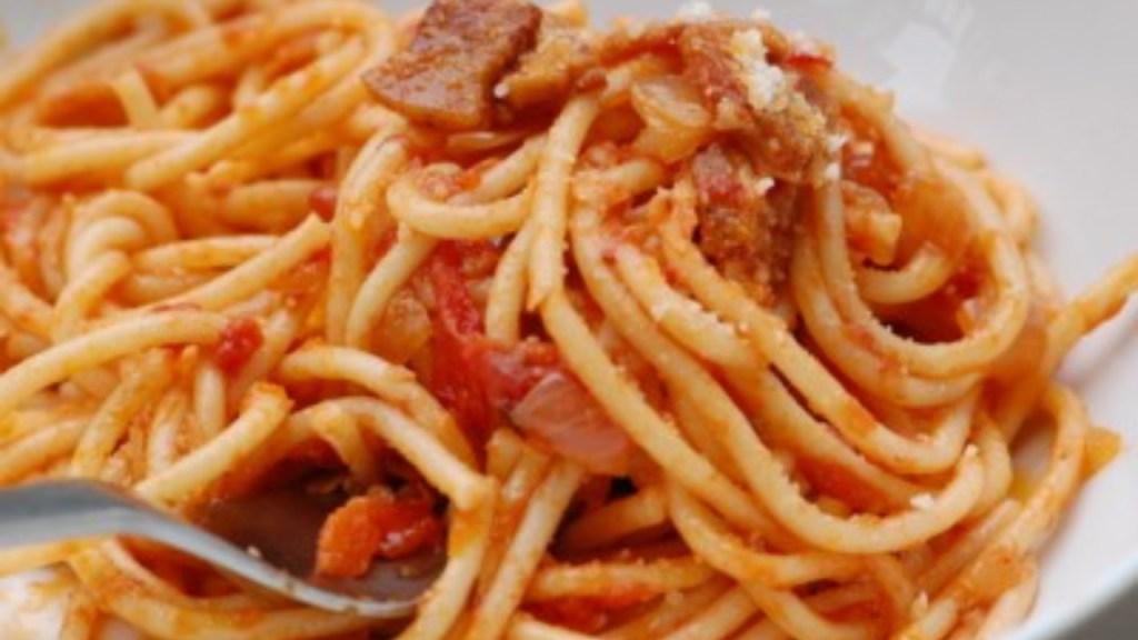 Pasta alla Amatriciana, an Easy Italian Recipe