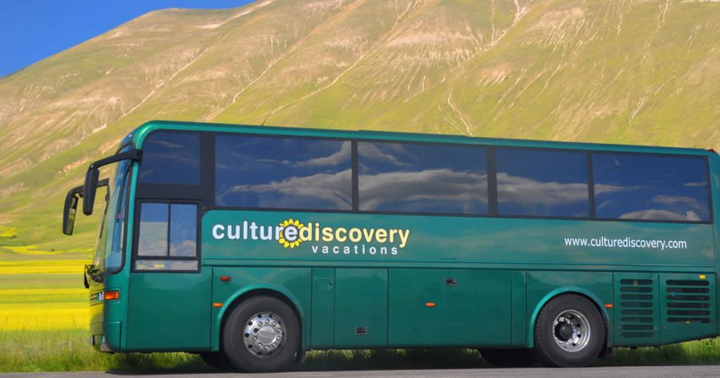 The culture discovery vacations bus