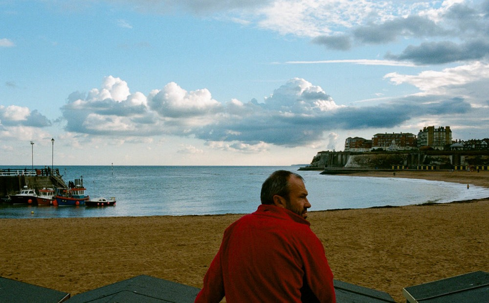 man enjoying view in Broadstairs