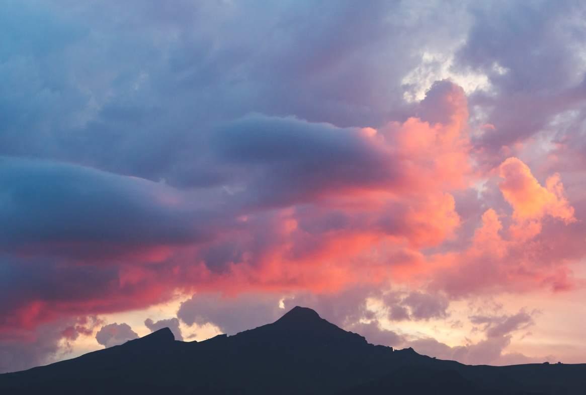 after sunset in kleine scheidegg