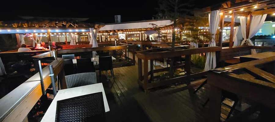 The Cultured Pearl Deck at Night