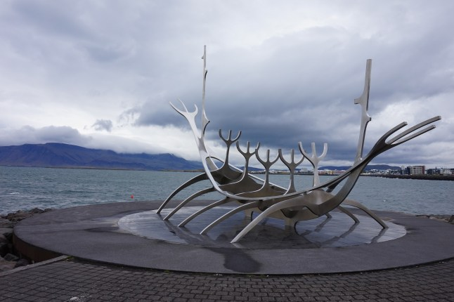 The famous and photogenic Sun Voyager sculpture in Reykjavík