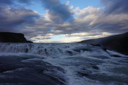 The striking Gulfoss waterfall