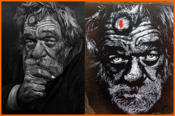 Left-Lee-Jeffries-Photograph-Right-Jef-Aérosol-Stencil-