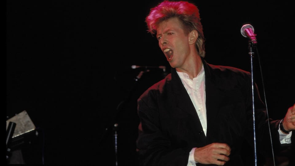 David Bowie circa 1987 Courtesy of Getty Images
