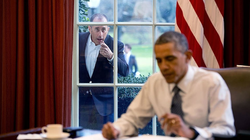 Jerry Seinfeld and Barack Obama