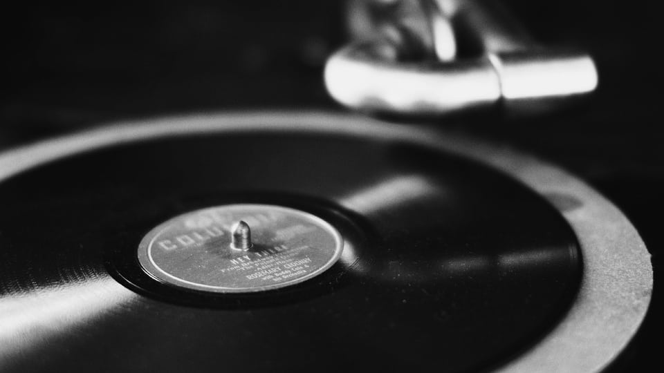 Record on Victrola
