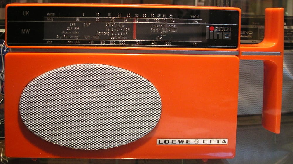 Orange Portable Radio from the 1970s