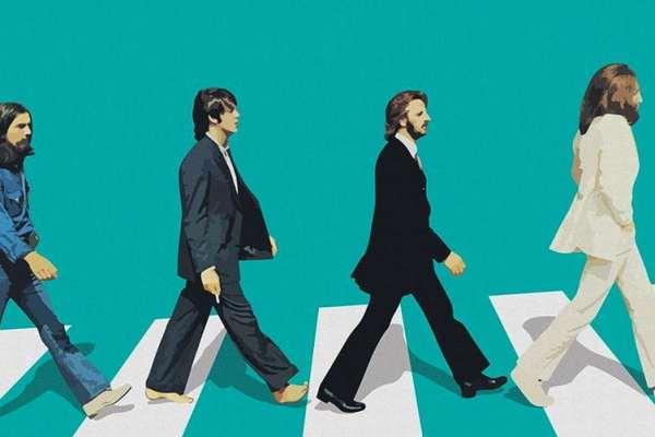 Abbey Road Green Crosswalk Poster