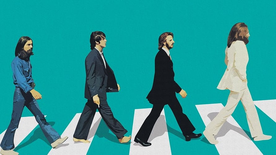Abbey Road Green Crosswalk Poster