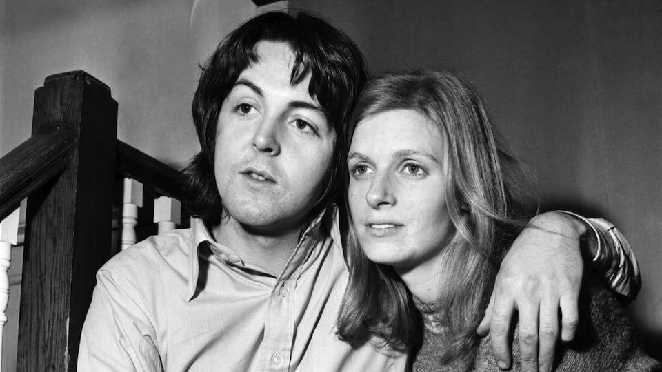 Paul McCartney with Linda McCartney courtesy of Getty