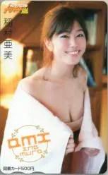 稲村亜美 ヤングアニマル嵐 図書カード 買取