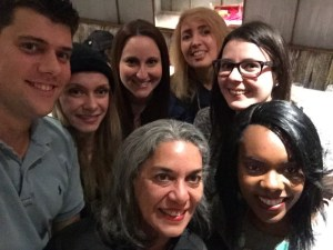 NYC late night meetup selfie!