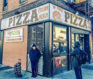 Outside DiFara in Midwood Brooklyn on Q Train