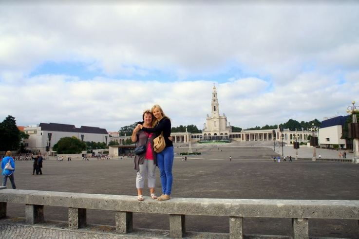 Agness and her mom visiting Fatima in Portugal