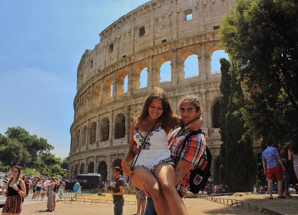 Jane and Javi at the Eternal City