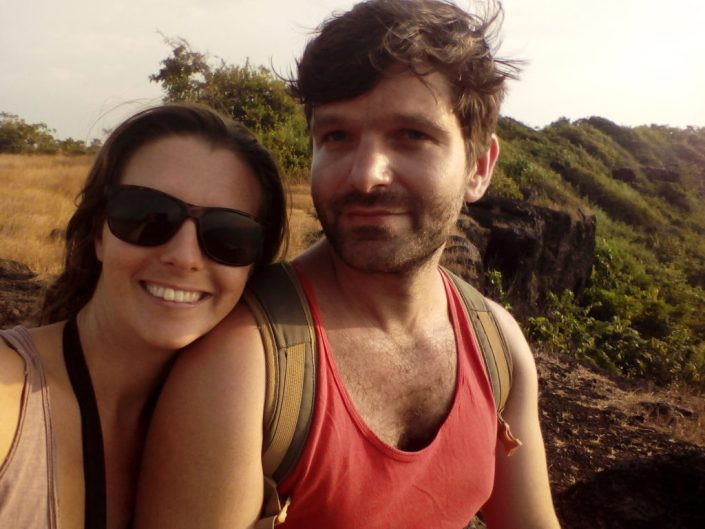 Dave and NikkiI in India