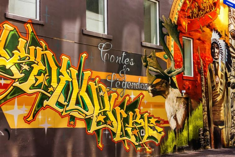 """Montreal Street Art; """"Tales and Legends"""""""