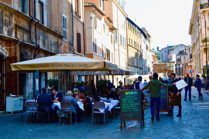 a traveling foodie experience in Rome