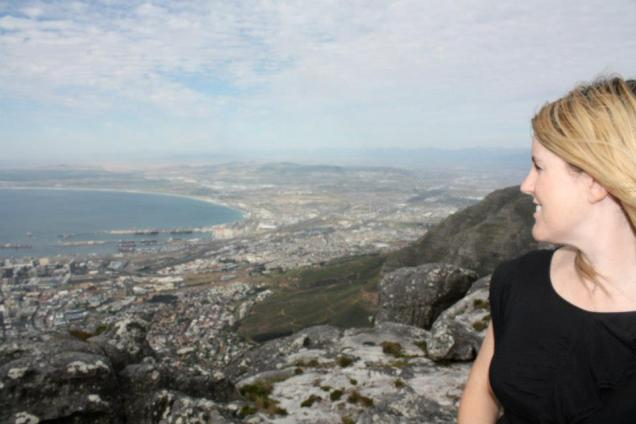 Kristy at the Table Mountain