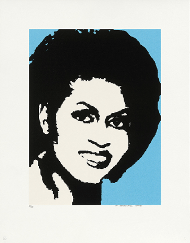 michelle obama by mickalene thomas