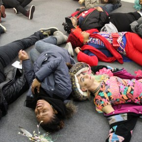 'I Can't Breathe' Demonstration Staged at Armory Show