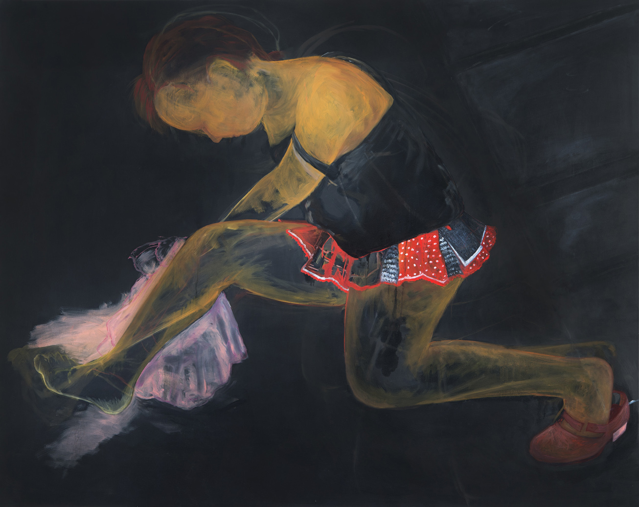 Williamson-Satin Doll, 2015, oil on linen, 48 x 60 inches