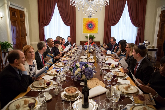 passover seder dinner @ white house - april 3, 2015