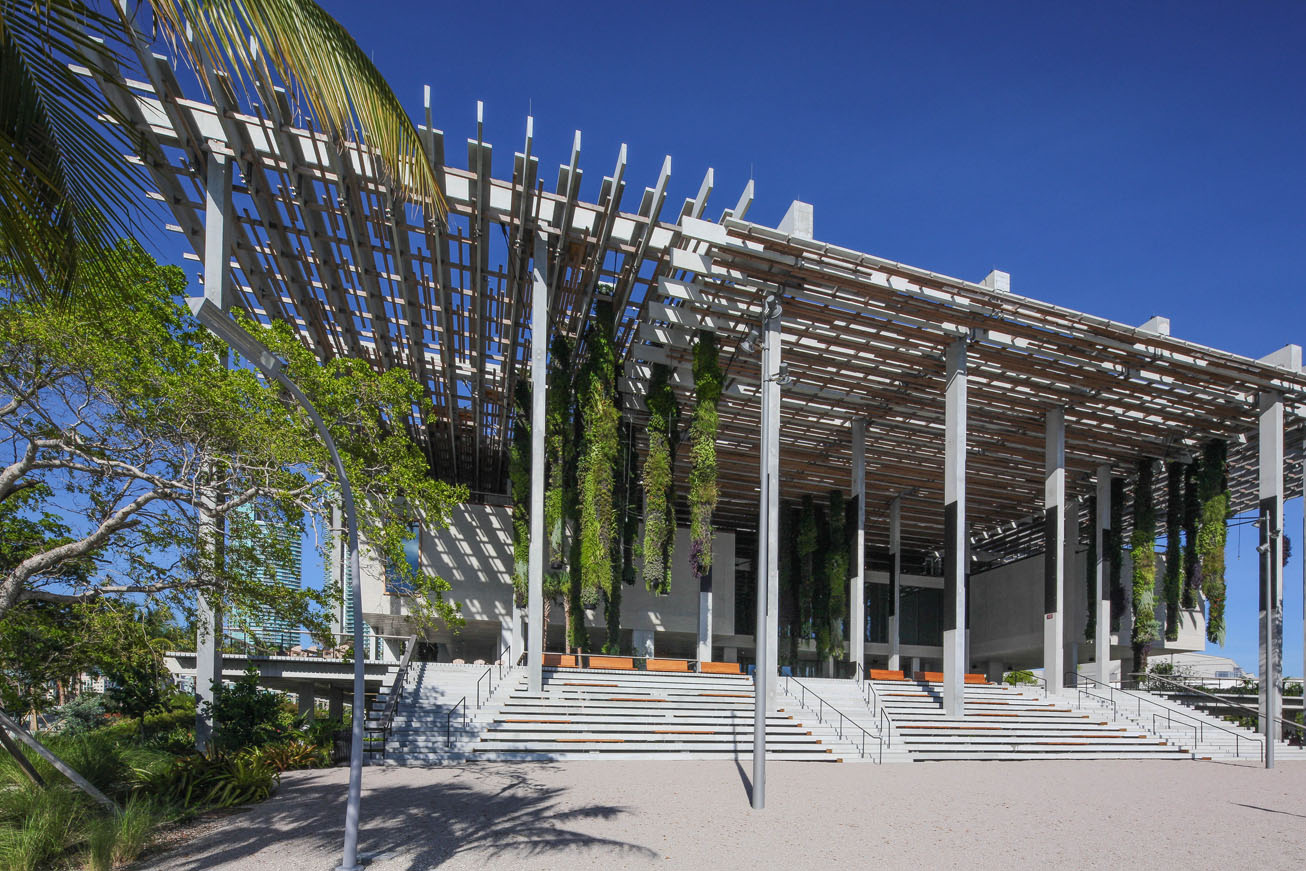 Prez Art Museum Miami, east facade. Photo by Daniel Azoulay Photography