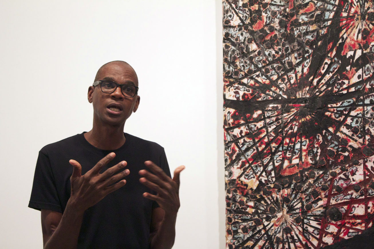 mark bradford discusses 'be strong boquan' at h+w - photo by victoria l. valentine