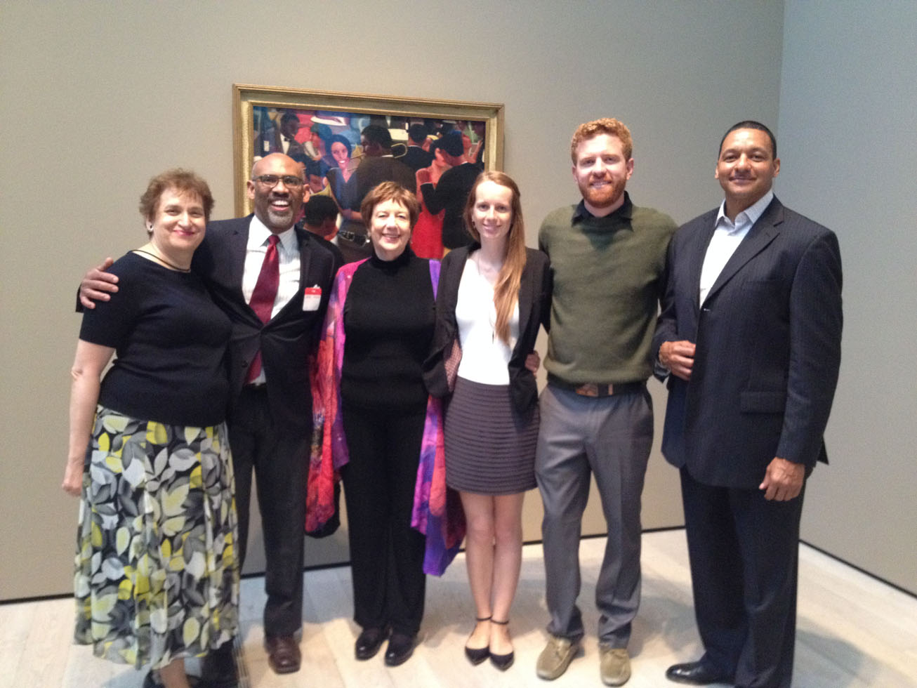Curator Ilene Fort, Curator Richard Powell, Valerie Gerrard Browne, Mara Motley, Scott Dixon, Kirkland Bailey.