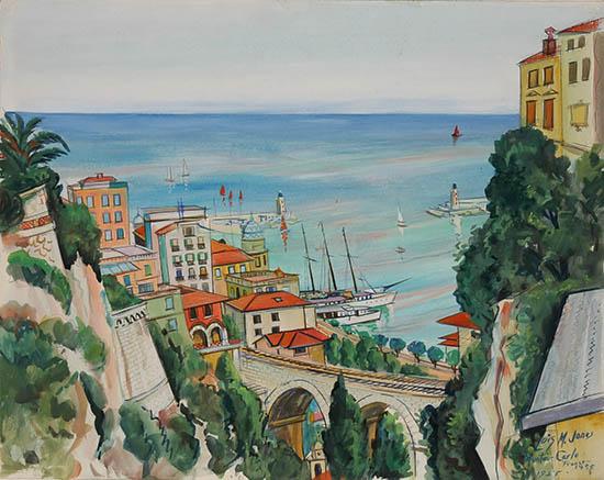 431417 Lois Mailou Jones Monte Carlo 1955