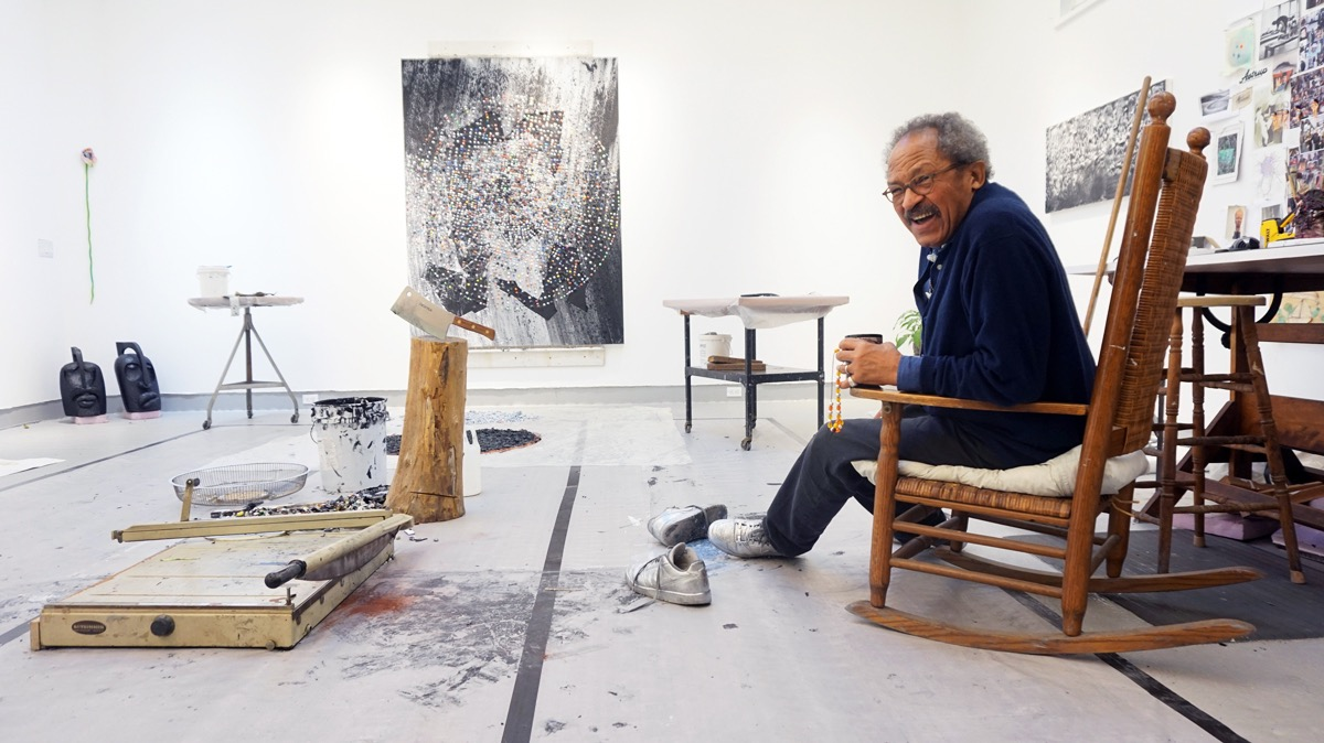 ©Katherine McMahon; from ArtNews: An Old-School Painter Adapts to a New World Order: Jack Whitten's 50-Year Evolution. By Alex Greenberger. posted 19 Jan 2016