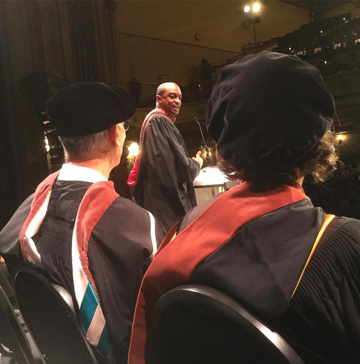 Hank willis Thomas at 2016 CCA Commencement
