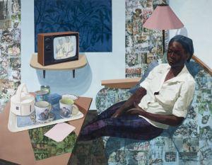Njideka Akunyili Crosby %22Super Blue Omo,%22 2016 - Victoria Miro Gallery