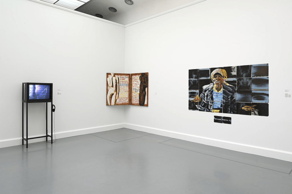 INstalltion View - Thinking Black - A Montage of Black Art in Britain