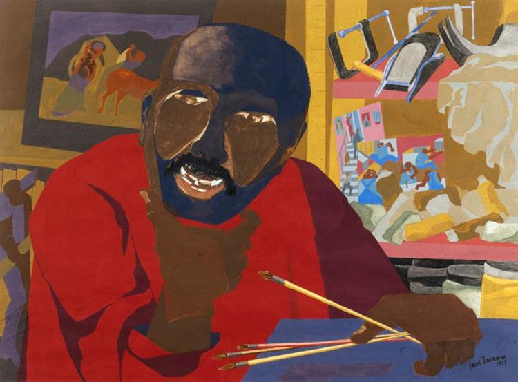 JACOB LAWRENCE - self-portrait-1977