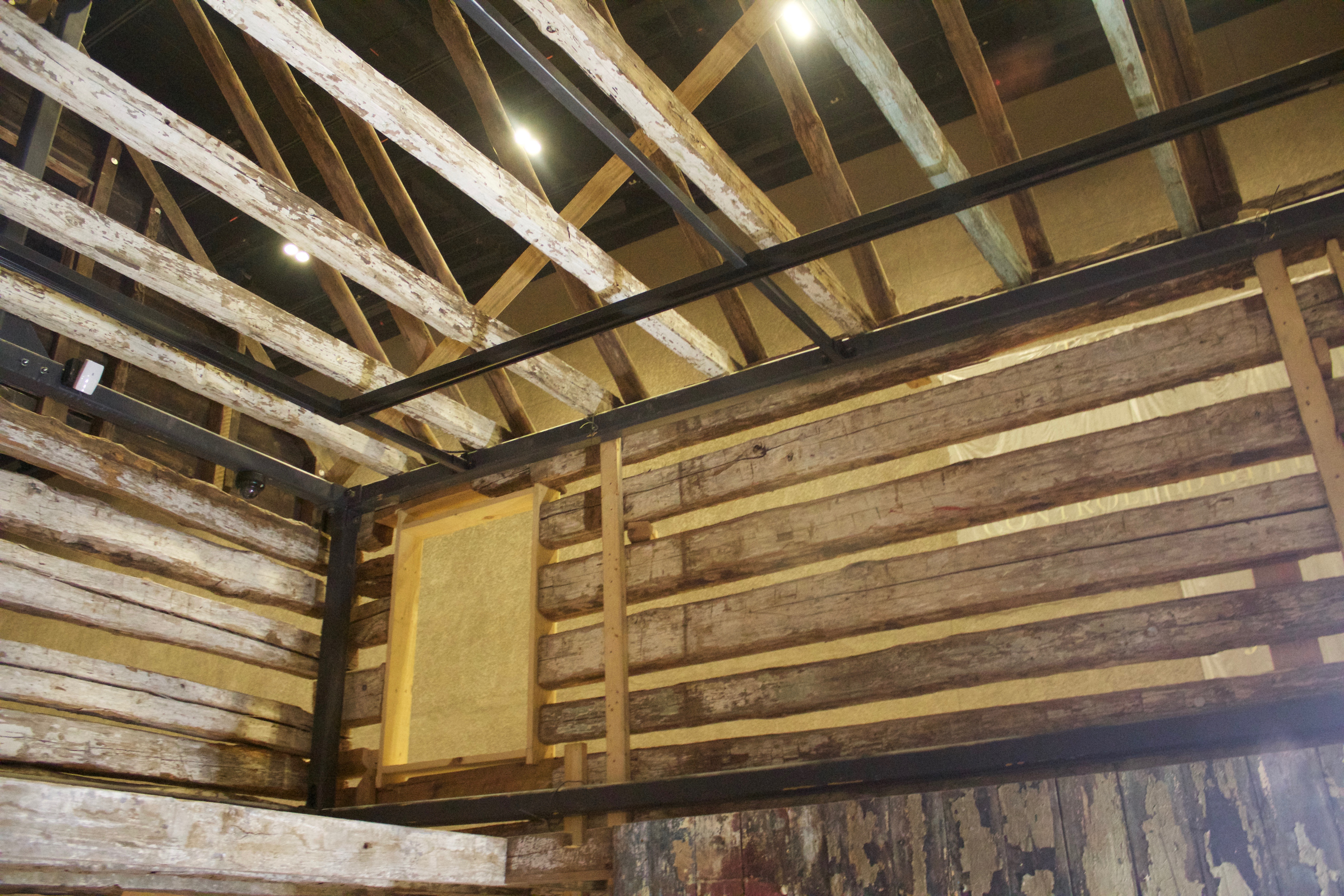 NMAAHC log house interior